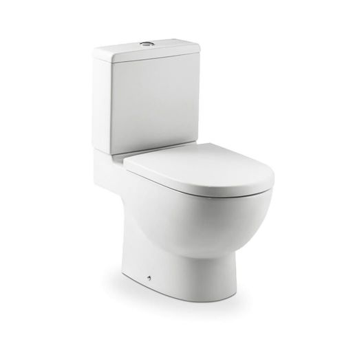 Roca Meridian-N Close Coupled Toilet With Dual Flush Cistern - Soft Close Seat - White